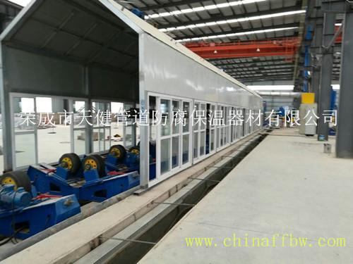 三层PE生产冷却室